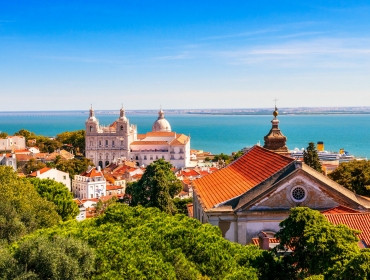 Lisbon, City and Tagus River View